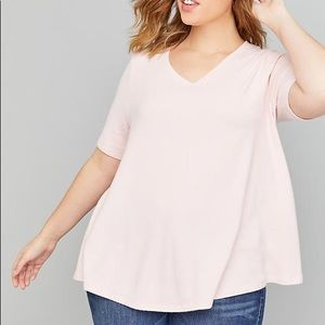 Lane Bryant Softest Touch Swing Top Light Pink